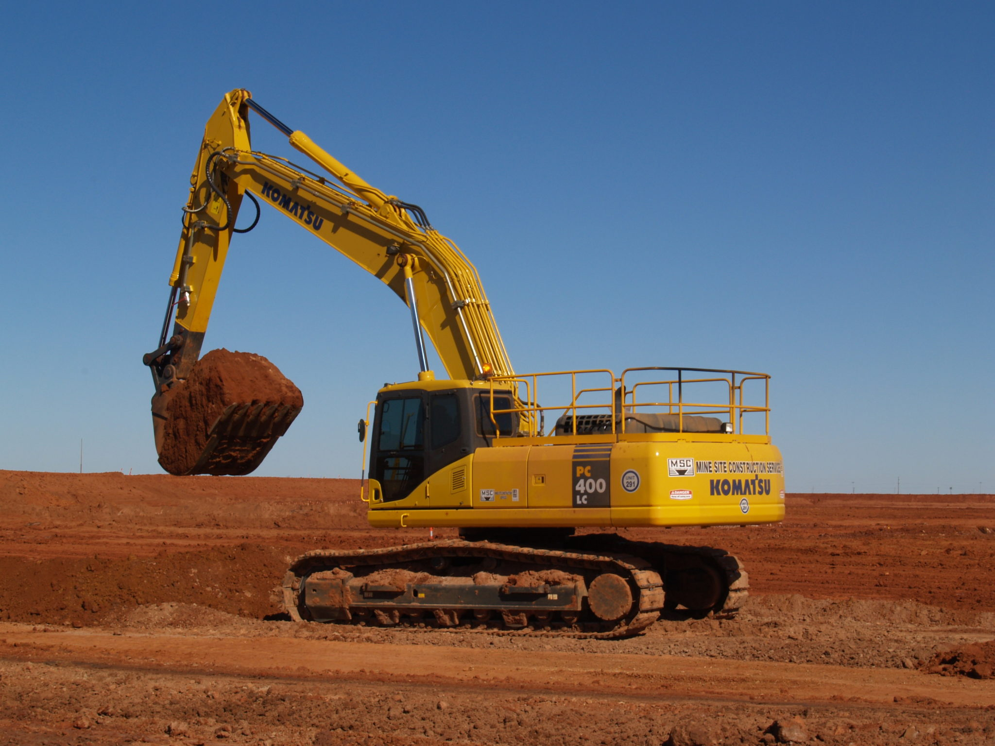 Port Hedland Excavator Caterpillar Mine Site Construction Services